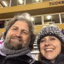 Derek and Debbie at high school Championship football game